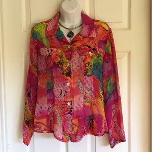 Beautiful CHICO'S 100% silk blouse